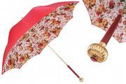 Pasotti Red Baroque Flower Umbrella