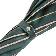 Pasotti Dark Green Striped Umbrella