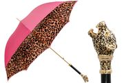 Pasotti Leopardized Pink Umbrella