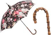 Pasotti Roses Parasol with Bamboo Handle