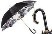 Pasotti Beautiful Black Umbrella with Japanese Flowers