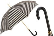 Pasotti Black and White Striped Umbrella