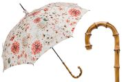 Pasotti Flowered Parasol with Whangee Handle