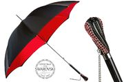 Pasotti Black & Red Umbrella with Swarovski® Crystals