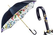 Pasotti Navy Blue Umbrella with Flowers