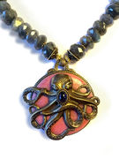 Patrice Vintage Octopus with Labradorite Necklace