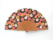 Olelé Colorful Japanese Flower Hand Fan