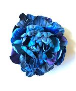 Large Blue Peony Brooch / Hair Pin