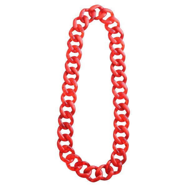 Dominique Denaive Long Red Chain Necklace