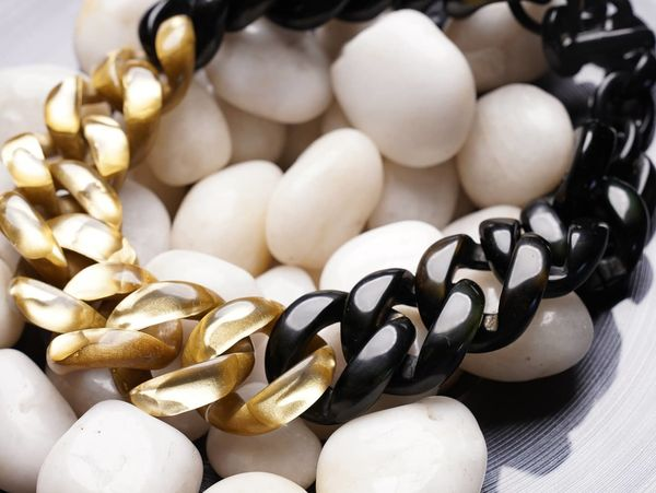 Dominique Denaive Gold Black Chain