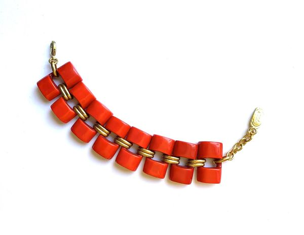 Dominique Denaive Red Coral Bracelet