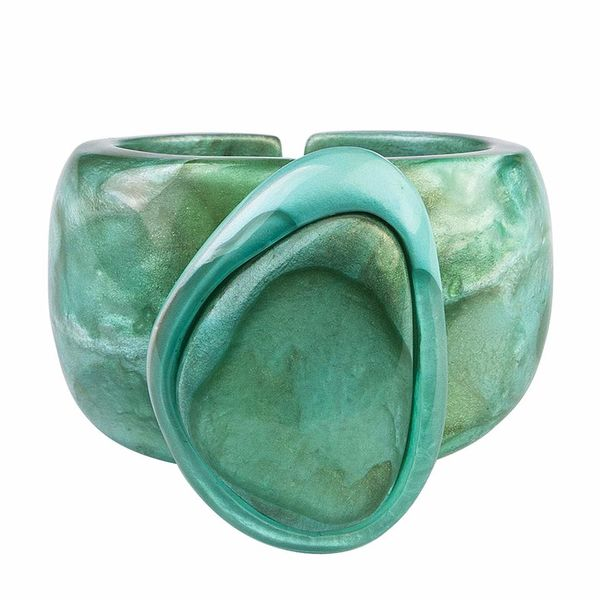 Dominique Denaive Huge Light Green Bracelet