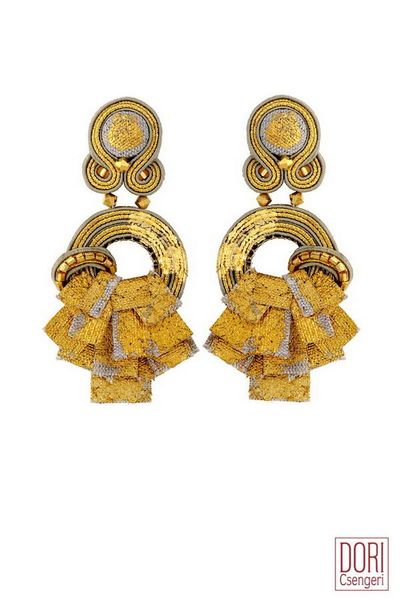 Dori Csengeri Unique Golden Earrings