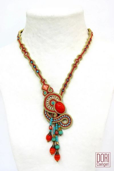 Dori Csengeri Necklace in Orange & Turquoise