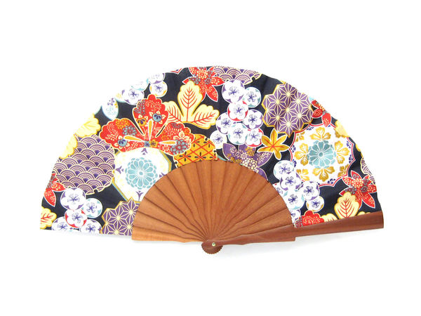 Olelé Japanese Multicolored Origami Hand Fan