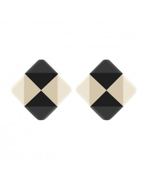 Marion Godart Black & White Check Earrings