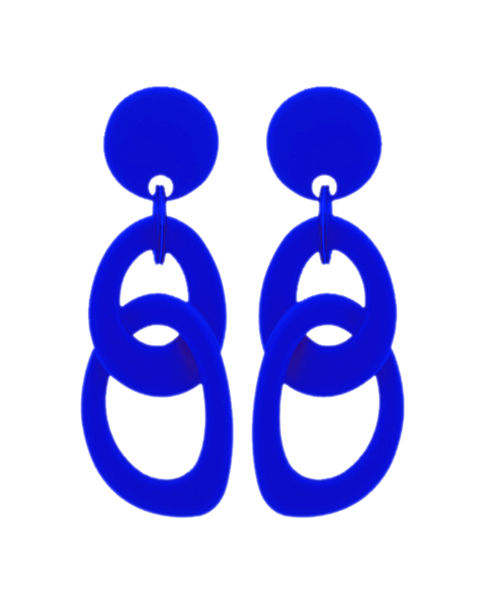Marion Godart Blue Double Hoop Earrings