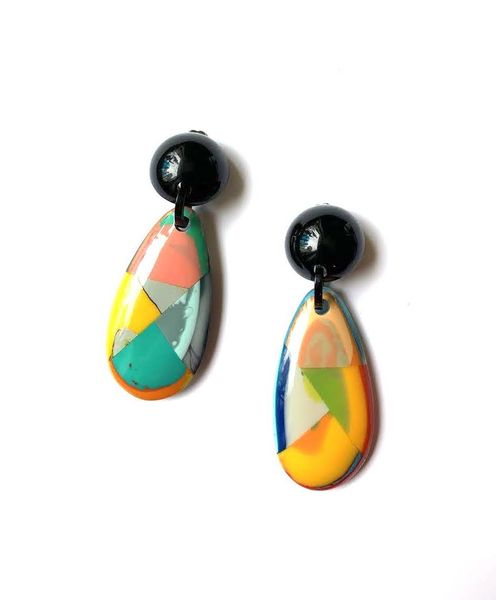 Marion Godart Yellow Picasso Earrings
