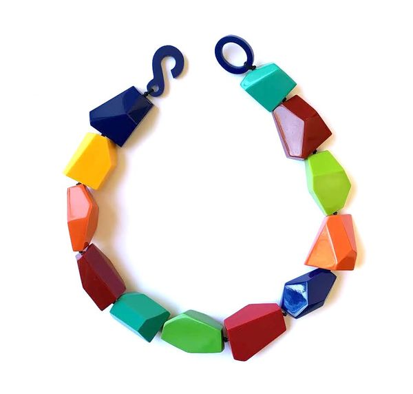 Marion Godart Necklace in Rainbow Colors