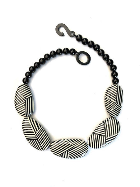 Marion Godart Striped Statement Necklace