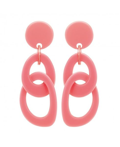 Marion Godart Pink Double Hoop Earrings