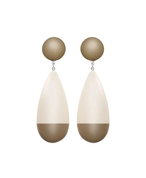 Marion Godart Oversized Dew Drop Earrings in Beige
