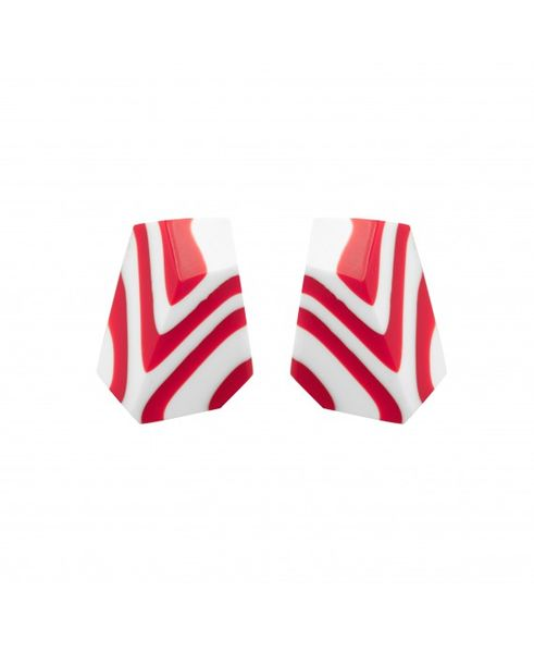 Marion Godart White & Red Earrings