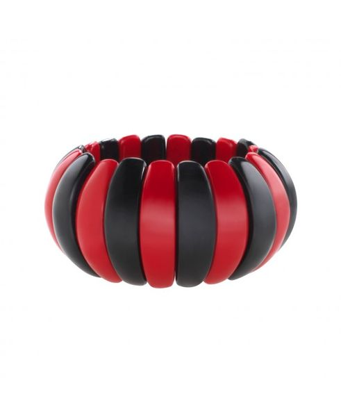 Marion Godart Striped Red Black Bracelet