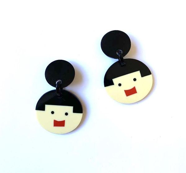 Marion Godart Iconic Face Earrings
