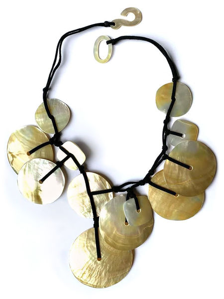 Marion Godart Round Mother of Pearl Beaded Necklace