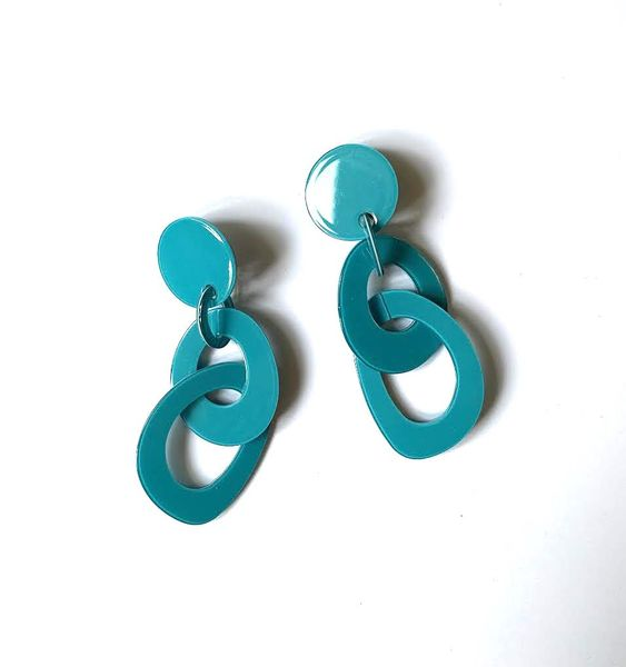 Marion Godart Turquoise Double Hoop Earrings