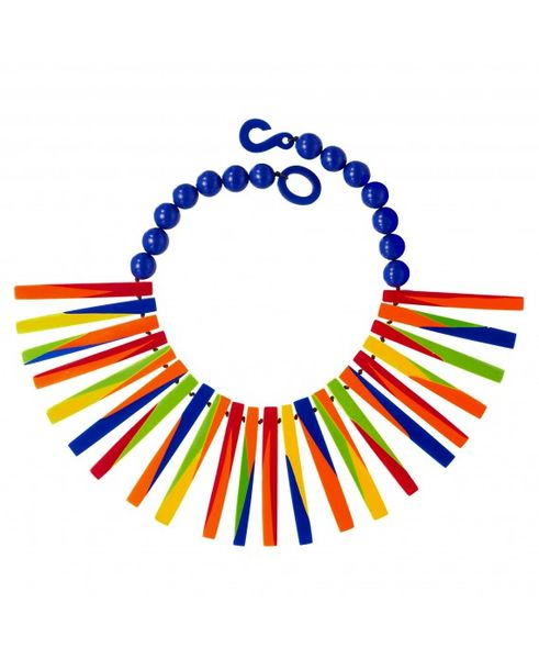 Marion Godart Multicolor Spiky Retro Necklace