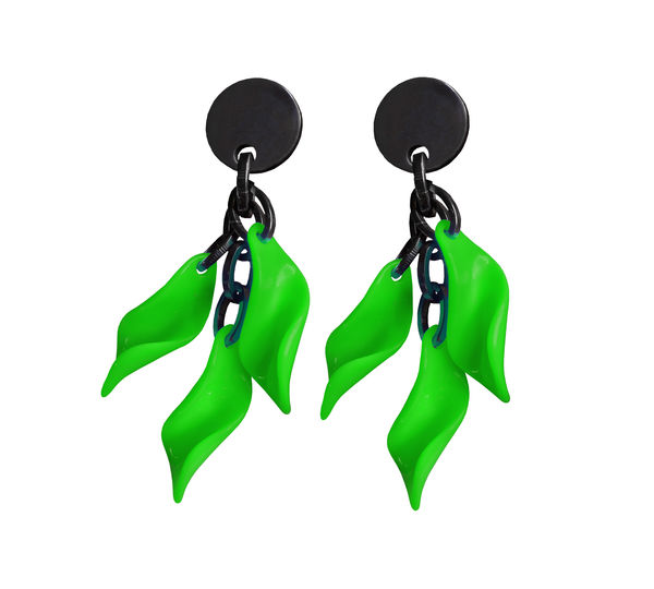 Marion Godart Green Leaf Earrings