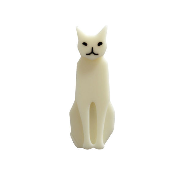 Marion Godart White Cat Brooch