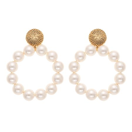 Marion Godart Huge Pearl Hoop Earrings