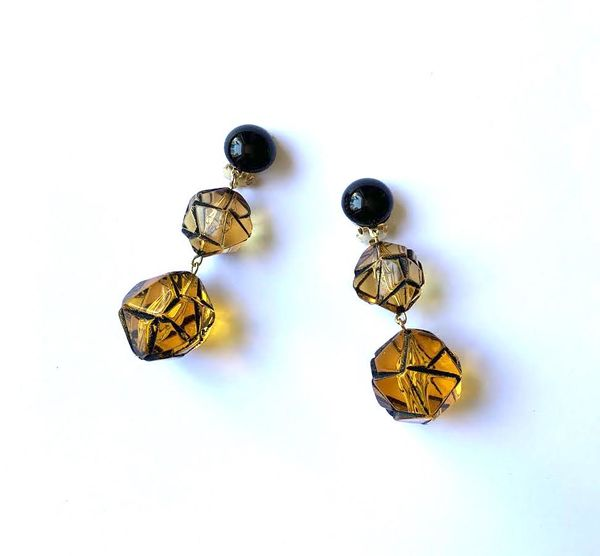 Marion Godart Amber Yellow Drop Earrings