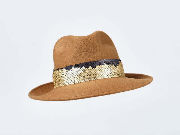 Misa Harada Fedora in Mustard Color