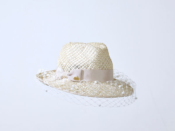 Misa Harada Fedora in Natural Jute Straw
