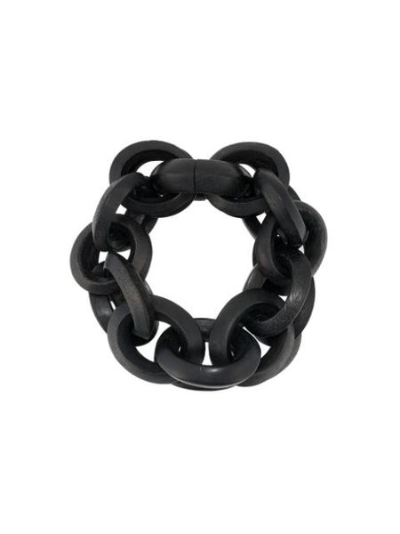 Monies Black Double Chain Link Bracelet