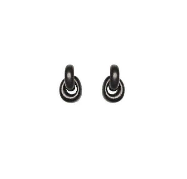 Monies Classic Earrings in Ebony