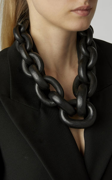 Monies Iconic Black Chain Necklace