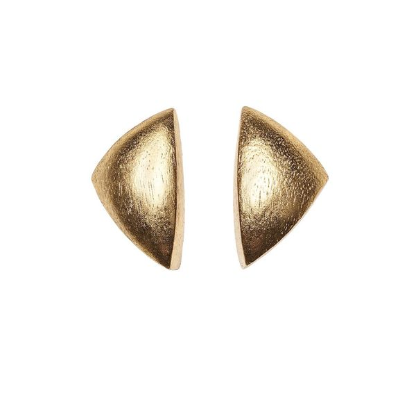 Monies Geometric Earrings in Acacia and Gold Foil