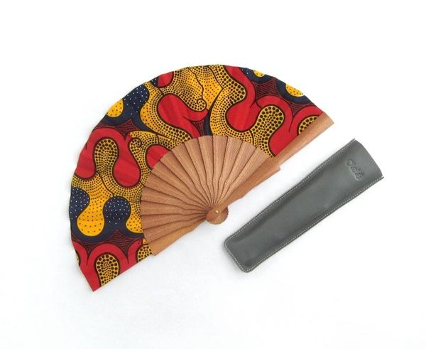 Olelé African Styled Multicolored Hand Fan
