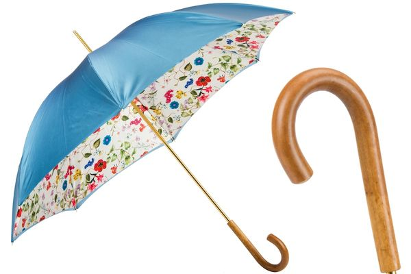 "Pasotti Blue Umbrella ""Bouquet of flowers"""
