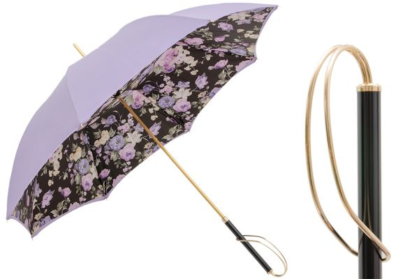 Pasotti Lavender Umbrella with Flowers