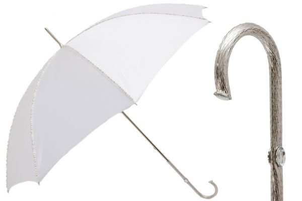 Pasotti Wedding Umbrella with White Pearls
