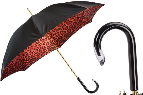 Pasotti Red Leopard Umbrella