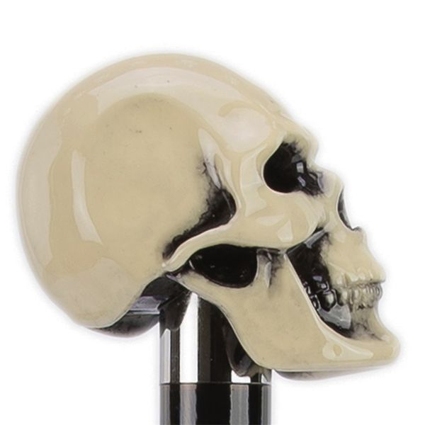 Pasotti Bone Color Resin Skull Cane