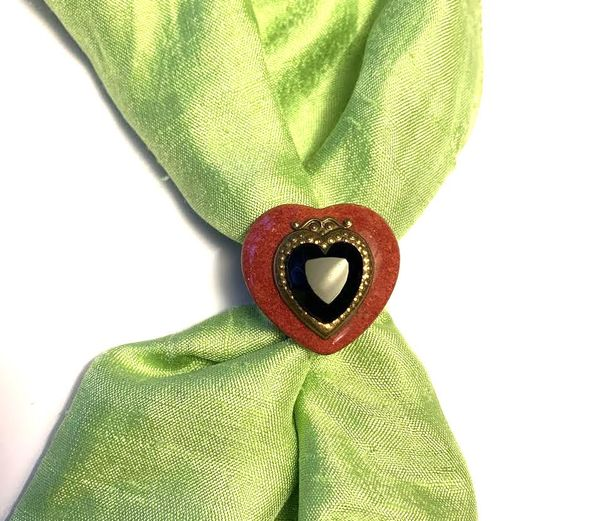 Patrice Red Heart ring