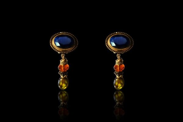 Patrice Deep Blue Renaissance Earrings